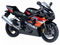 Suzuki GSX-R 600 2004 - Schwarze/Orange Version - Dekorset