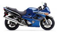 Suzuki GSX-F 600 Katana 2002 - Blau/Schwarze EU Version - Dekorset