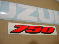 Suzuki GSX-R 750 2008 - Weiß/Blaue Version - Dekorset