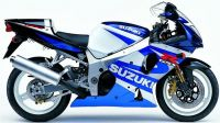 Suzuki GSX-R 1000 2001 - Weiß/Blaue Version - Dekorset