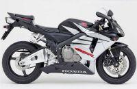 Honda CBR 600RR 2005 - Schwarz/Silber Version - Dekorset