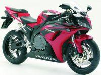 Honda CBR 1000RR 2006 - Schwarz/Rote Version - Dekorset