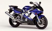 Yamaha YZF-R6 RJ03 2002 - Blaue EU Version - Dekorset