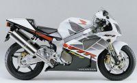Honda VTR 1000 2002 - Weiß/Schwarze Version - Dekorset