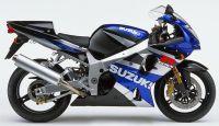 Suzuki GSX-R 1000 K2 2002 - Blau/Schwarz/Silber Version - Dekorset