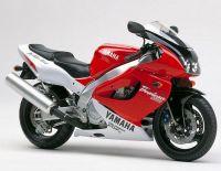 Yamaha YZF-1000R 1996 - Weiß/Rote Version - Dekorset