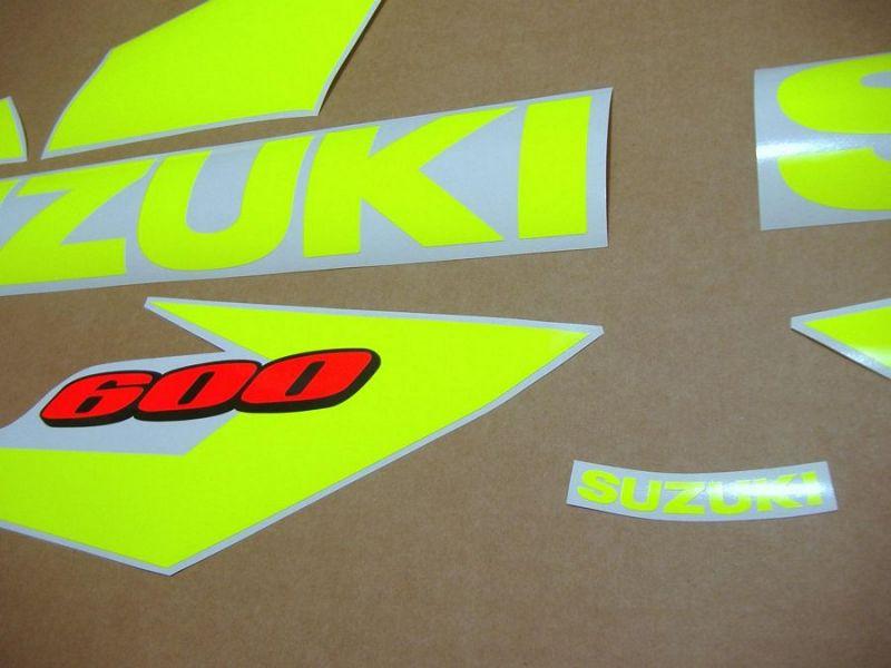 Suzuki Gsx R 600 2004 2005 Neon Gelb Custom Dekorset