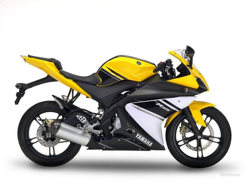 Yamaha Yzf R125 2009 Yellow Version Decalset