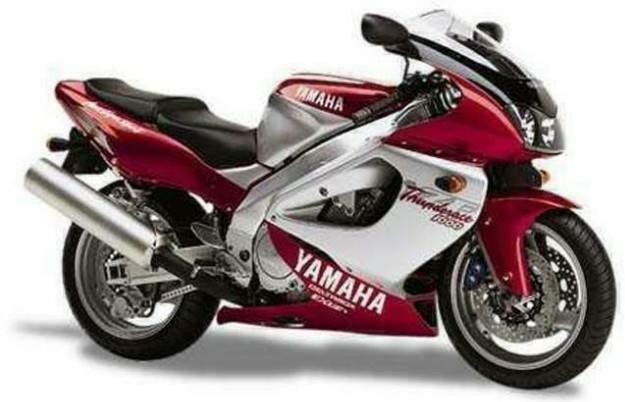 Yamaha Yzf 1000 R >> Yamaha Yzf 1000r 1997 Burgundy Silver Version Decalset