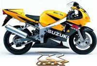 Suzuki GSX-R 600 2002 - Gelb/Schwarze Version - Dekorset