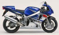 Suzuki GSX-R 600 2002 - Blau/Silber Version - Dekorset