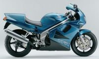 Honda VFR 750 1995 - Green Version - Decalset