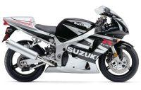Suzuki GSX-R 600 2003 - Silber/Schwarze Version - Dekorset