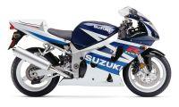 Suzuki GSX-R 600 2003 - Weiß/Blaue Version - Dekorset