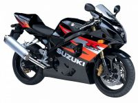 Suzuki GSX-R 600 2004 - Schwarze/Orange Version - Dekorset