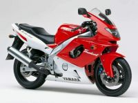 Yamaha YZF-600R 1996 - Rot/Weiße Version - Dekorset