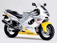 Yamaha YZF-600R 1996 - Silber/Gelbe Version - Dekorset