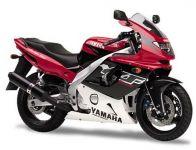 Yamaha YZF-600R 1998 - Rot/Schwarz/Weiße Version - Dekorset