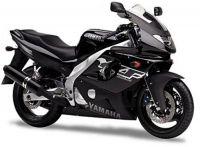 Yamaha YZF-600R 1999 - Schwarze Version - Dekorset