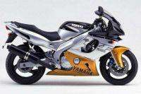 Yamaha YZF-600R 2000 - Schwarz/Silber/Gold Version - Dekorset