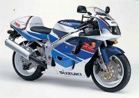 Suzuki GSX-R 750 1996 - Weiß/Blaue Version - Dekorset