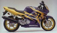 Honda CBR 600 F3 1997 - Lila/Gelbe Version - Dekorset