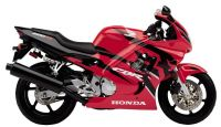 Honda CBR 600 F3 1997 - Rot/Schwarze Version - Dekorset