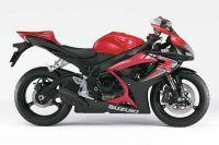 Suzuki GSX-R 600 2006 - Rot/Schwarze Version - Dekorset