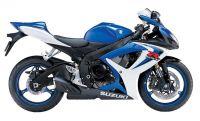 Suzuki GSX-R 600 2006 - Weiß/Blaue Version - Dekorset