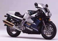 Yamaha FZR 1000 1990 - Schwarz/Blau/Weiß Version - Dekorset