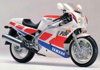 Yamaha FZR 1000 1989 - Weiß/Rote Version - Dekorset
