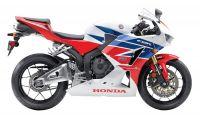 Honda CBR 600RR 2013 - Weiß/Rot/Blaue Version - Dekorset