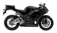 Honda CBR 600RR 2014 - Schwarze Version - Dekorset