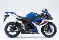 Suzuki GSX-R 600 2007 - Blau/Weiße Version - Dekorset