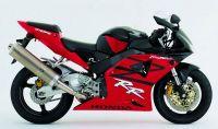 Honda CBR 954RR 2003 - Schwarz/Rote Version - Dekorset