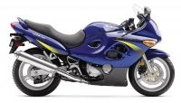 Suzuki GSX-F 600 Katana 2002 - Blaue US Version - Dekorset