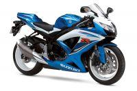 Suzuki GSX-R 600 2009 - Weiß/Blaue Version - Dekorset