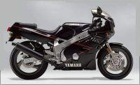 Yamaha FZR 600 1989 - Schwarz/Grau Version - Dekorset