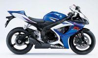 Suzuki GSX-R 750 2007 - Weiß/Blaue Version - Dekorset