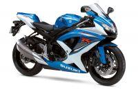 Suzuki GSX-R 750 2009 - Weiß/Blaue Version - Dekorset