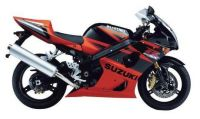 Suzuki GSX-R 1000 2003 - Orange/Schwarze Version - Dekorset