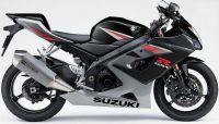Suzuki GSX-R 1000 2005 - Schwarz/Graue Version - Dekorset