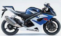 Suzuki GSX-R 1000 2005 - Weiß/Blaue Version - Dekorset