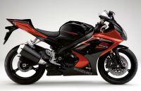 Suzuki GSX-R 1000 2007 - Orange/Schwarze Version - Dekorset