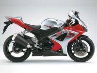 Suzuki GSX-R 1000 2007 - Silber/Rote Version - Dekorset