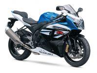 Suzuki GSX-R 1000 2014 - Weiß/Blau/Schwarze Version - Dekorset