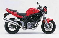 Suzuki SV 650 2006 - Rote Version - Dekorset