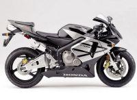 Honda CBR 600RR 2004 - Schwarz/Silber Version - Dekorset