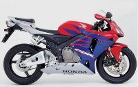 Honda CBR 600RR 2005 - Rot/Blau/Silber Version - Dekorset