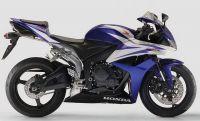 Honda CBR 600RR 2007 - Blau/Weiße Version - Dekorset